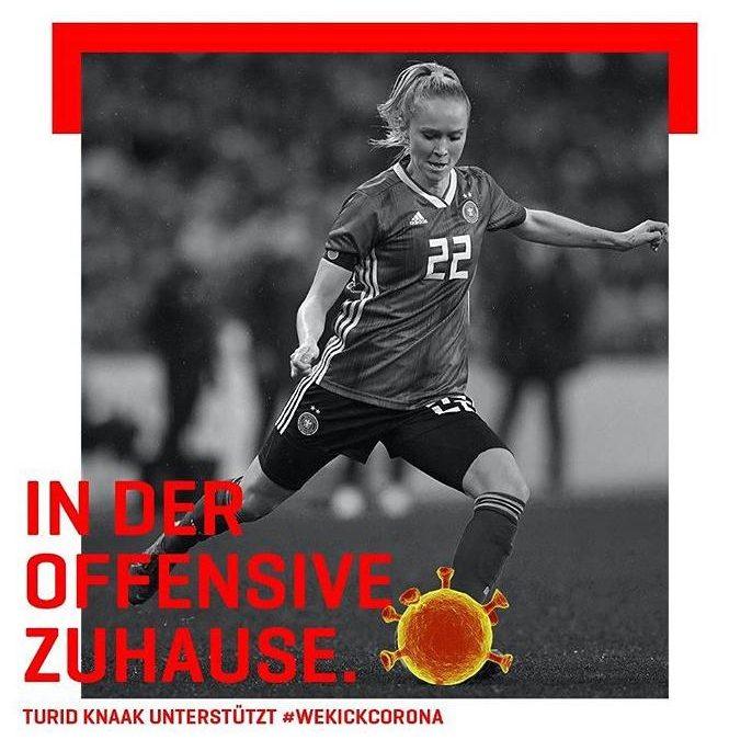 Turid Knaak und Klara Bühl unterstützen #WeKickCorona